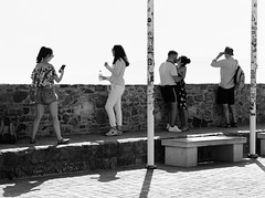 What tourists do