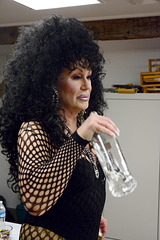 """""""Cher"""" gets fortified in the dressing room"""