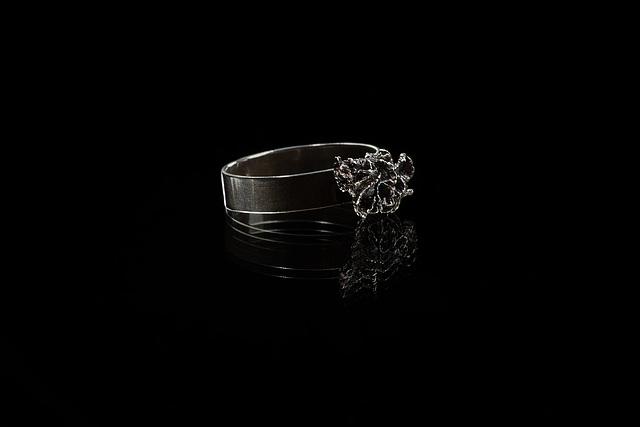 Cladonia, silver ring