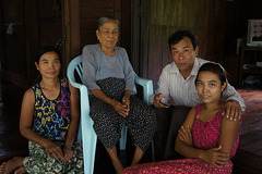Mr. Michael Aung and his relatives