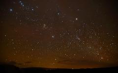 Night Sky above Mt. Kilauea Volcano