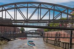 Harbor Canal - Zollkanal in Hamburg (270°)