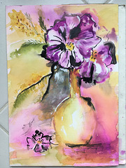 Aquarelle : Bouquet