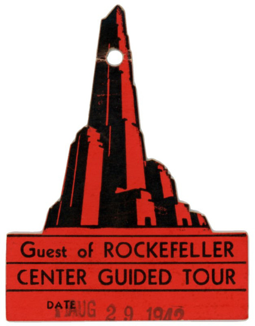 Rockefeller Center Guided Tour Ticket, August 29, 1942