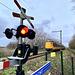 Train from Utrecht approaching Leiden