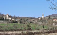 Veyssilieu (38) 12 mars 2015. Petit village du Nord Dauphiné.