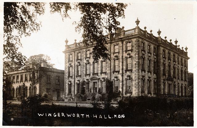 Wingerworth Hall, Chesterfield, Derbyshire (Demolished)