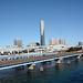Japan, Tokyo Urban Landscape with Bridges