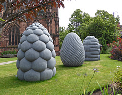 Peter Randall-Page Fructus, Phyllotaxus and Corpus.