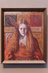"""""""Portrait d'une jeune norvégienne"""" (Konrad Mägi - 1909)"""