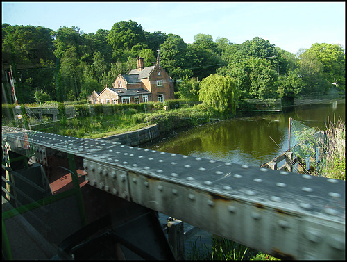 Winnington swing bridge