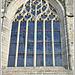 Fenêtre de la façade de l'église de Saint sauveur à Dinan