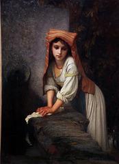 La jeune Lavandière songeuse , d'Ernest Hébert