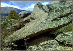 Hungover granite rocks-