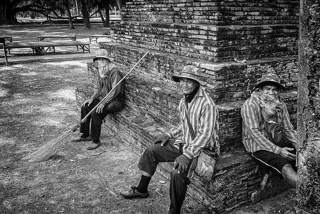 Jardiniers de Sukhotai.