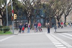 Scène de rue à Barcelone