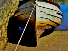 Boats at Seaton Sluice. Northumberland