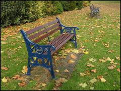 seat in autumn