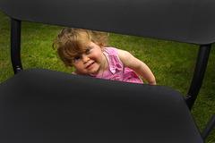 Curious little girl.