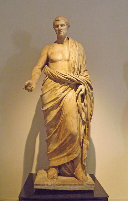 Statue of a Distinguished Roman from the Villa dei Papiri in the Naples Archaeological Museum, June 2013