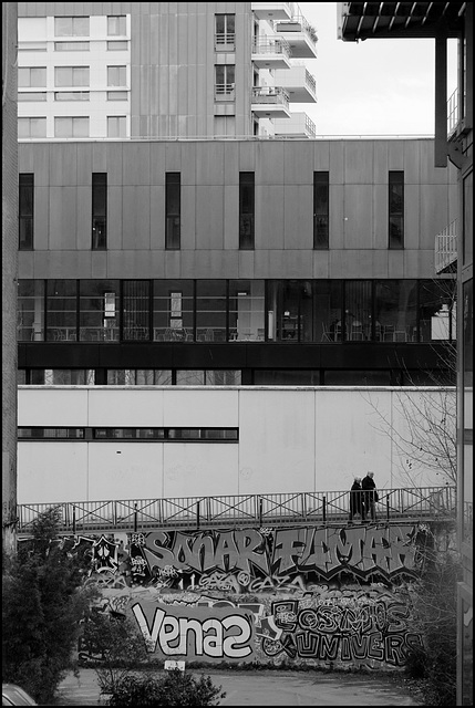 Promenade bétonnière (version n/b)
