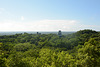 Guatemala, Tikal, Temples II, I and V from Top of Temple IV