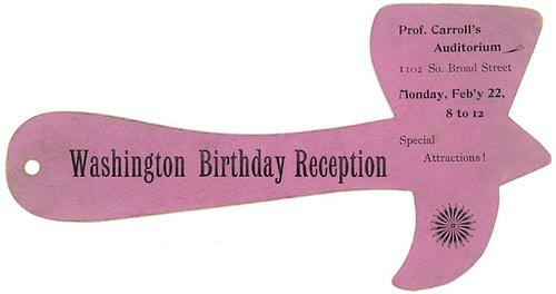 Washington Birthday Reception, Philadelphia, Pa., ca. 1890s