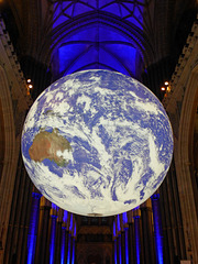 Our planet in Salisbury cathedral.