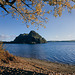Dumbarton Rock and Autumn Leaves