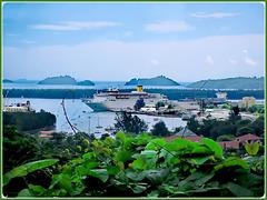 MAHE' : il porto di Victoria visto dalla zona alta della capitale - la C0sta Romantica ci attende per portarci in Madagascar