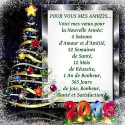 Bonne année à tous et toutes