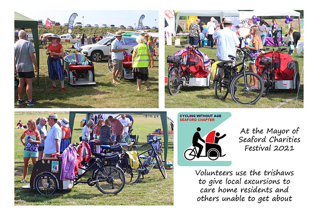 Cycling without age stand Mayor's Charities Festival 2021