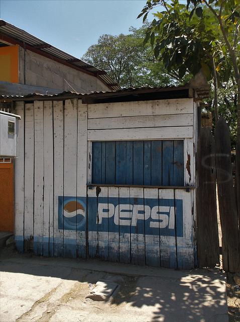 Pepsi sur bois