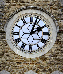 Clock face on the Wesleyan Church tower