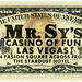 Three Dollar Bill, Mr. Sy's Casino of Fun (Back)