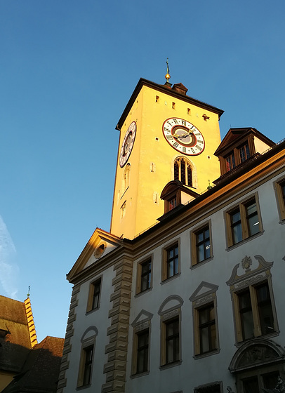 sunny city hall tower this morning