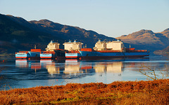 Laid up Maersk container ships