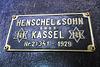 Eisenbahnmuseum Lokschuppen Aumühle 2015 – 1928 Steam Engine DR 75 634 manufacturer's plate