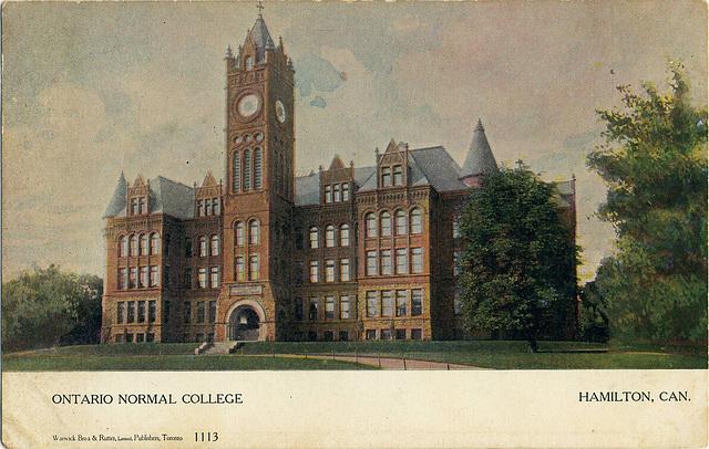 6126. Ontario Normal College, Hamilton, Can.