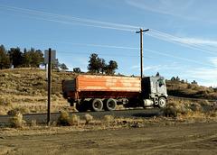 Old potato hauling truck