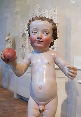 Detail of the Christ Child with Apple in the Cloisters, October 2017