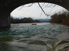 Sous le pont de la Drôme