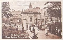 Bildkarto -  La 12-a  Brita E-Kongreso en Harrogate 1921 - Valaj ĝardenoj