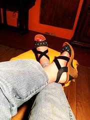 Sandales maîtresse en bleu dominant / Bossy sandals in dominant blue