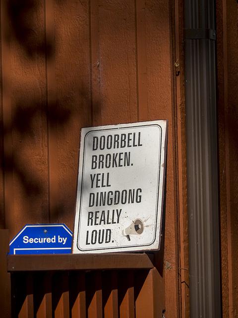 In Lieu of Doorbell...