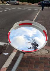 traffic mirror trampled 508