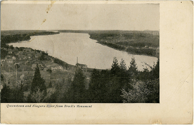 6130. Queenstown and Niagara River from Brock's Monument