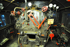 Eisenbahnmuseum Lokschuppen Aumühle 2015 – 1928 Steam Engine DR 75 634 control panel
