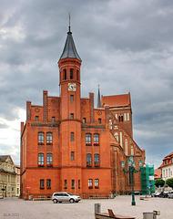 Perleberg, Rathaus und Stadtkirche