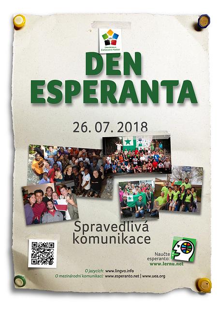 Esperanto-Tago 2018 - ĉeĥlingva afiŝo